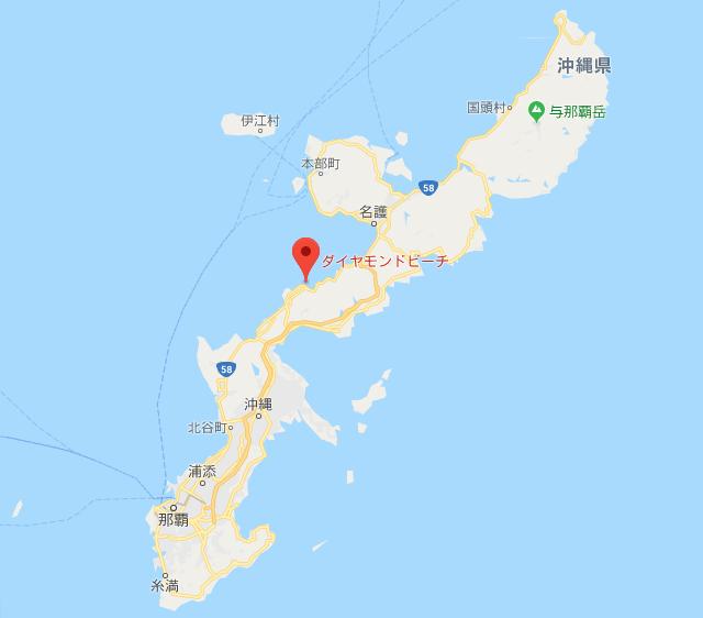 地図 ダイヤモンドビーチ