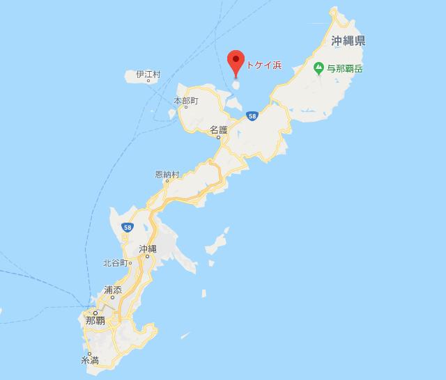 地図 トケイ浜